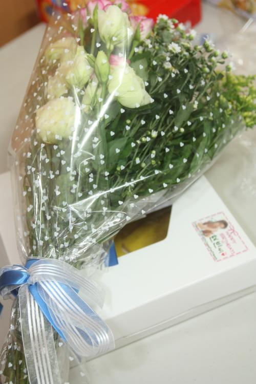 エッグパイとお花