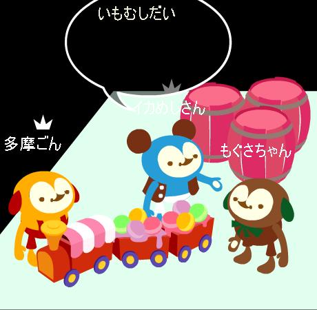 お菓子の汽車