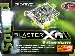 PC関係 [creative] PCI Express Sound Blaster X-Fi Titanium その1