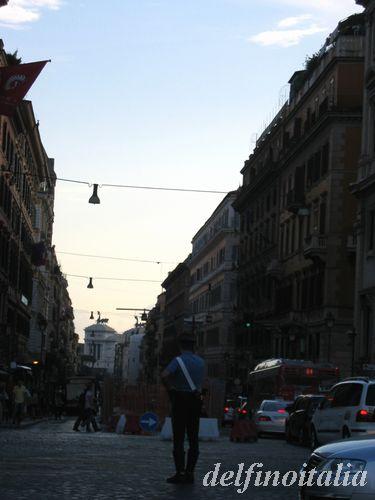 ローマのたそがれ時Via Nazionale