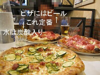 Pizzaといえばビール