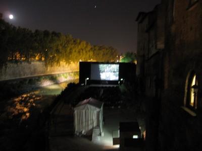 野外映画館