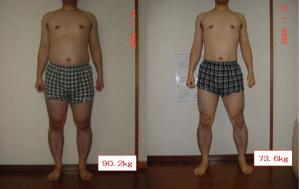 ダイエット比較写真2008年12月末