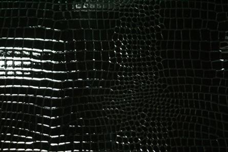 No.292エナメルブラッククロコ型押し革