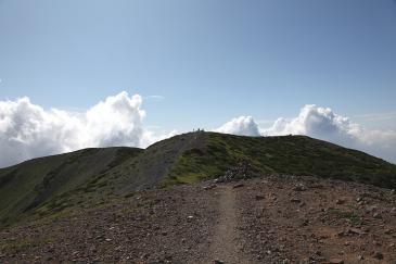 北海道2009 羊蹄山を山頂付近