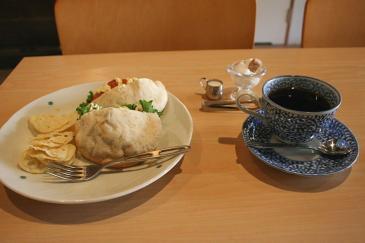 恵那市岩村 豆カフェの「ピタパンセット」