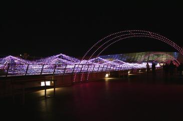 セントレア2008年12月 スカイデッキ イルミネーション