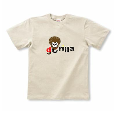 アフロ ゴリラ スカル Gorillra オリジナルデザイン Tシャツ