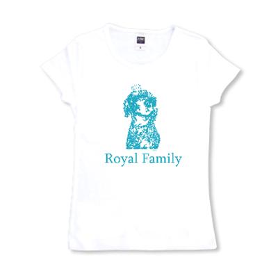 Royal Family ロイヤルファミリー プードル 王冠 オリジナルデザイン Tシャツ
