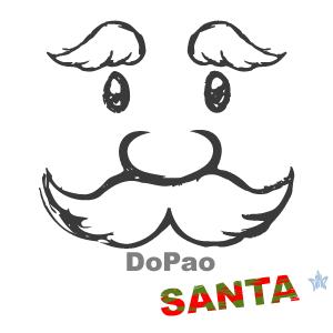 サンタクロースの顔 オリジナルデザイン