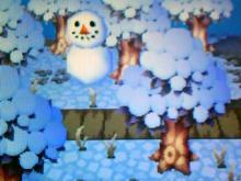 散歩道 雪