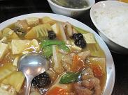 とんこう/豆腐と肉野菜定食