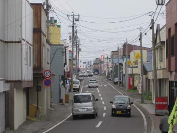 利尻富士町市街