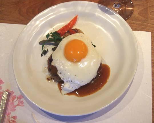 20100421 ステーキ黒澤 009 フォアグラ入り和牛ハンバーグ 19cm