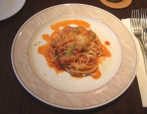 20100508 Mio Posto シェフの特別ランチ 005季節野菜のパスタトマトソース18cm