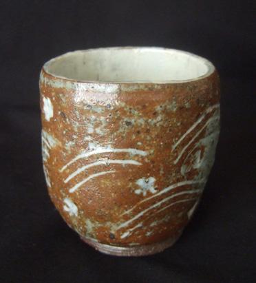 20100624 陶芸作品 三島 湯飲み茶碗 005 13cmcm