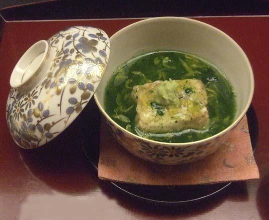 20100910 菊の井 赤坂店  040 ウナギ豆腐 菊菜あん 19cm