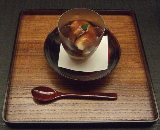 20100910 菊の井 赤坂店  051 水物 いちじくと紅茶のパフェ 19cm