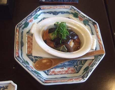 20101021 奈良ホテル 昼食 万葉弁当 006 海鮮と野菜の味噌仕立 15cm