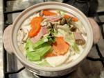 キャベツとベーコンのクリーム鍋作り方4