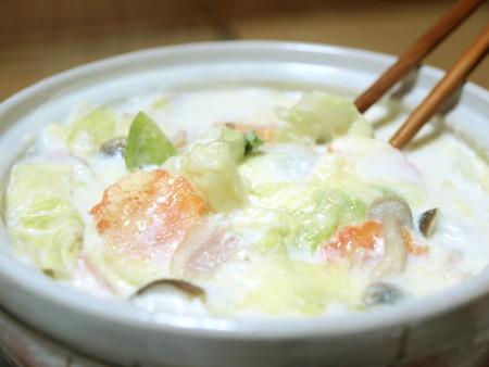 キャベツとベーコンのクリーム鍋作り方8