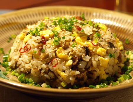 ぺペロンチーノ高菜飯5