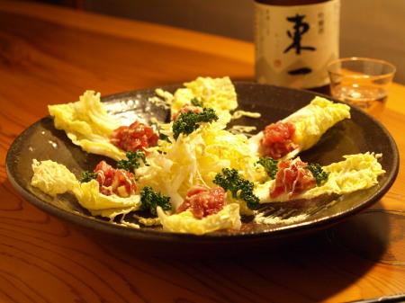白菜の葱鮪タルタル作り方とレシピ4