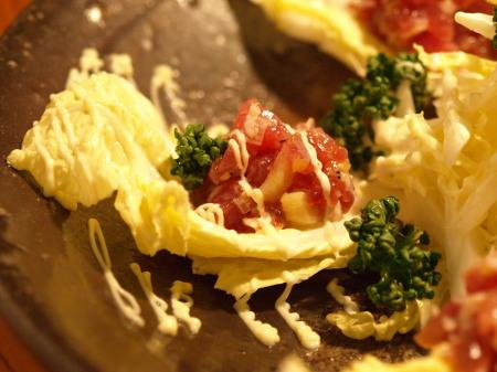 白菜の葱鮪タルタル作り方とレシピ7