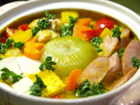 丸ごと玉葱の豆乳カレー鍋作り方とレシピ5