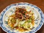 茹でキャベツと鶏皮のピリ辛ポ完6