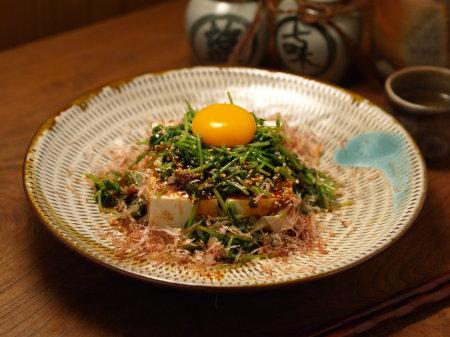 豆苗のユッケサラダ風a01