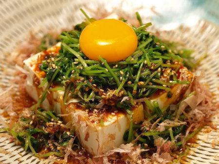 豆苗のユッケサラダ風a02