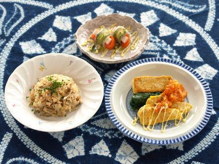 豆腐ステーキ鶏ピカタトマトa01