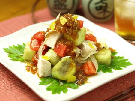 鶏胸肉と茄子のサラダa18