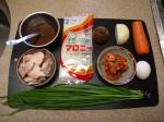 マロニーとキムチの鶏皮炒め01