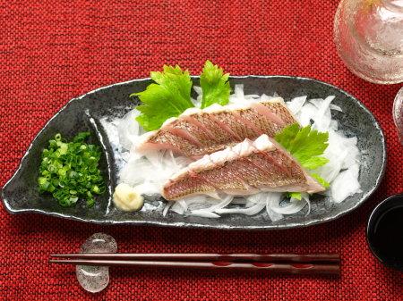 鯛炙り刺身a19