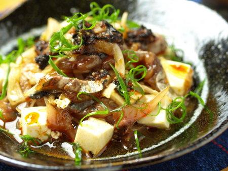 鯵豆腐ラー油和え12