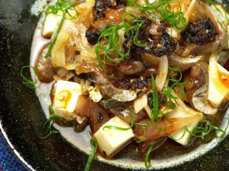 鯵豆腐ラー油和え15