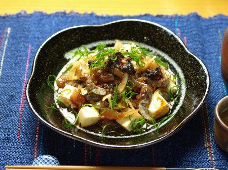 鯵豆腐ラー油和え09