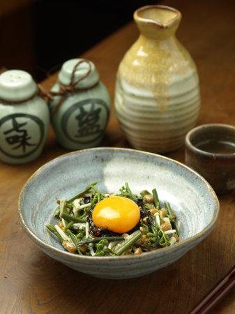わらび納豆海苔ラー油和えa08