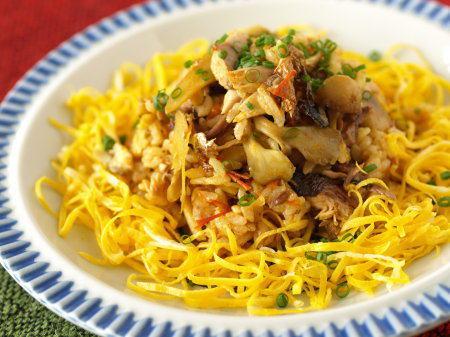 サンマとキノコのカレーご飯08