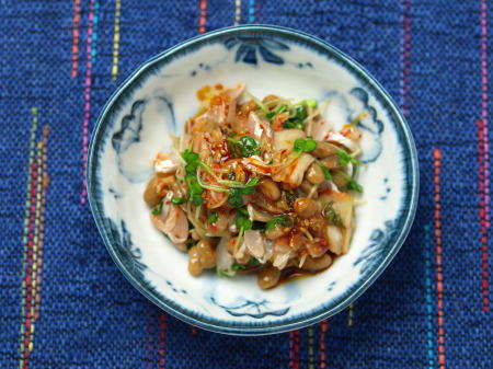 太刀魚納豆キムチ和え06