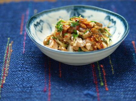 太刀魚納豆キムチ和え08