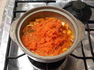 キムチ味のニンジン鍋07