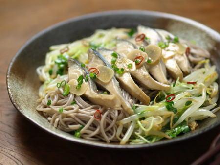 鯖オイル煮おつまみ蕎麦13
