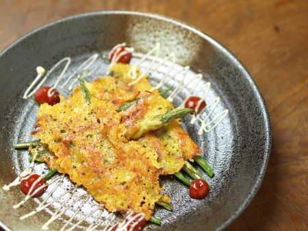 tいんげんのカリカリチーズ焼き2
