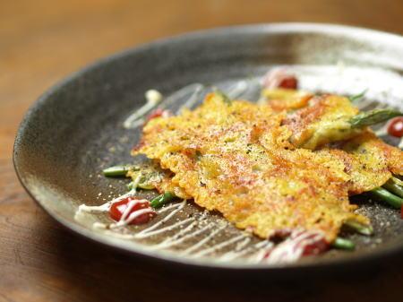 tいんげんのカリカリチーズ焼き1