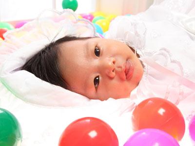 秋田のベビーフォト スタジオ撮影 赤ちゃんポスター展2011夏 ハルナちゃん