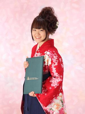秋田の卒業式 スタジオ撮影 大学卒業 ミサキさん