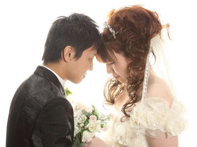 秋田のブライダルフォト スタジオ撮影 写真だけの結婚式 ヒロト&ユカリさん